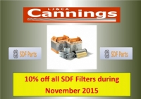 10% off all SDF Filters during November 2015
